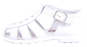 DE OSU B-109 - White Patent Leather Sandals - EU 24 US 7