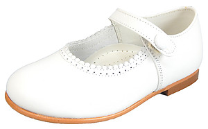 DE OSU/FARO F-2467 SN - White Button Mary Janes