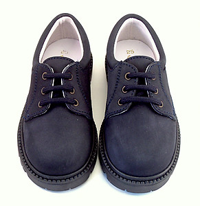 DE OSU/FARO F-3200 - Navy Blue Nubuck Oxfords