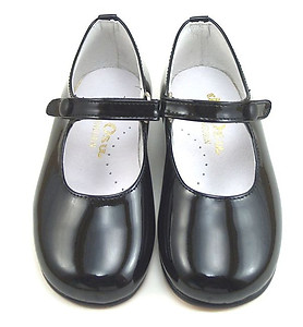 DE OSU P-2550  - Black Patent Button Shoes