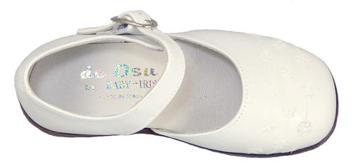 DE OSU B-6321 - White Embroidered Dress Shoes