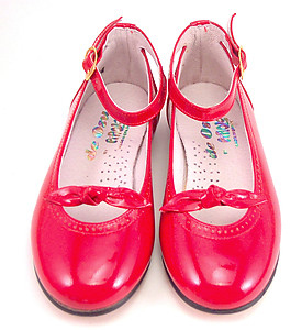 119 - Red Patent Anklestraps - Euro 27 Size 10