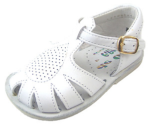 440 - White Fisherman Sandals - EU 18 US 2.5-3