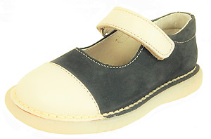 FARO 5F3160 - Navy & Cream Mary Janes - Euro 24 Size 7