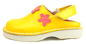 FARO 5H0411 - Yellow & Fuschia Clogs - Euro 24 Size 7