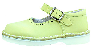 FARO 5J0110 - Light Green Nubuck Mary Janes