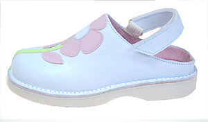 FARO 5L1112 - Lt. Blue Flower Clogs