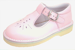 FARO 5J0891 - Pink Leather T-Straps