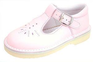 DE OSU/FARO 5J0891 - Pink Leather T-Straps