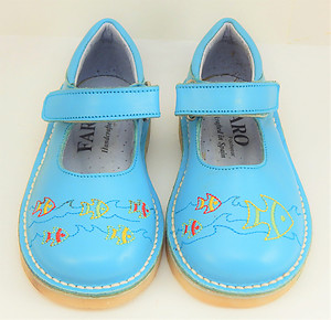FARO 5S2611 - Turquoise Fish Mary Janes - Euro 24 Size 7