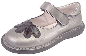 5Z7411 - Silver Gray Mary Janes