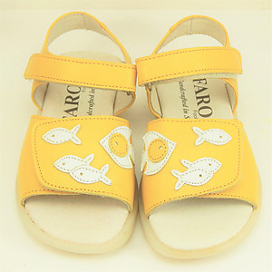 FARO 6U2486 - Yellow Fish Sandals - Euro 24 Size 7