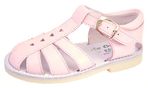 8064 - Pink Heart Fisherman Sandals
