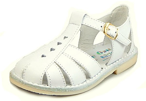 8064 - White Fisherman Sandals - Euro 22 Size 6