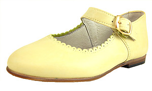 8070 - Lemon Yellow Mary Janes - Euro 24 Size 7