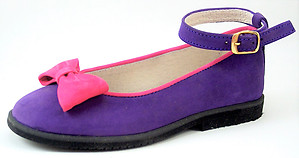 A-1014 - Purple & Purple Bow Shoes
