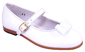 A-1014 - White Leather Tuxedo Bow Dress Shoes