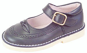 A-1244 -Navy Blue Mary Janes