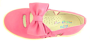 A-1273 - Fuschia Bow Mary Janes