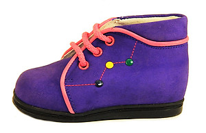 A-386 - Purple Nubuck Boots