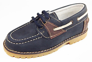 A-5071 - Navy Boat Shoes - Euro 24 Size 8