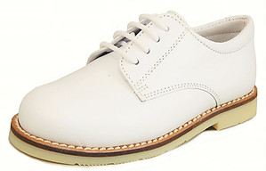 FARO A-5078 - Toddler White Nubuck Oxfords