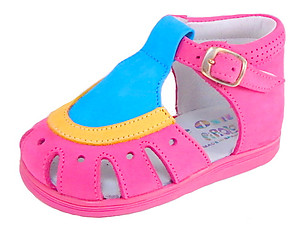 A-7063 - Fuschia Multi Sandals - Euro 21 Size 5
