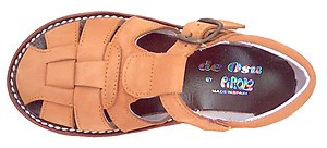 A-7119 - Tan Nubuck Fisherman Sandals
