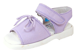 DE OSU B-064 - Lilac Leather Sandals - EU 19 US 4