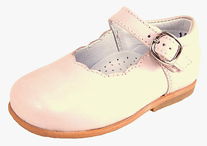 B-112 - Pink Scalloped Mary Janes