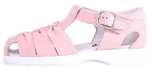 B-120 - Pink Nubuck Leather Sandals