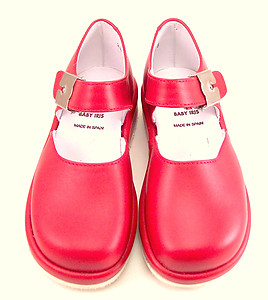 FARO B-236 - Red Leather Mary Janes