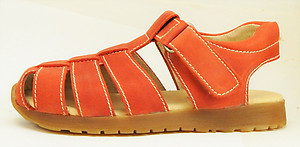 B-3342 - Dark Orange Fisherman Sandals