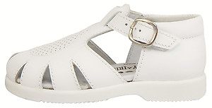 B-440 - Toddlers' White Fisherman Sandals