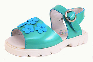 B-6087 - Turquoise Flower Sandals