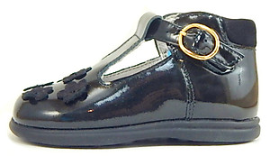 B-6102 - Black Patent High Tops