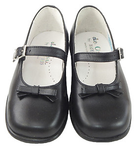 B-6121 - Black Bow Mary Janes