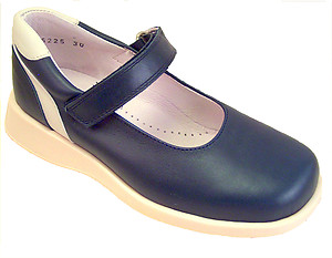 FARO B-6225 - Navy & Cream Mary Janes