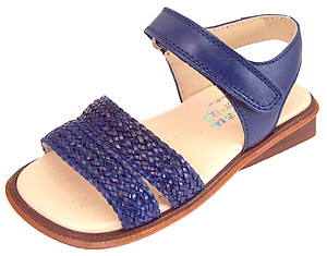 B-6332 - Navy Blue Woven Sandals