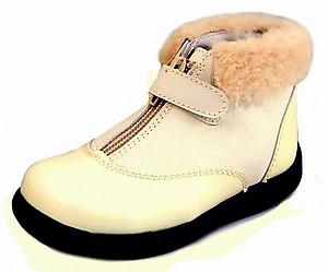B-6404 - Ivory Shearling Boots