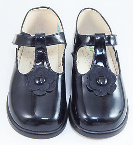 B-6422 - Navy Patent Dress Shoes - Euro 24 Size 7