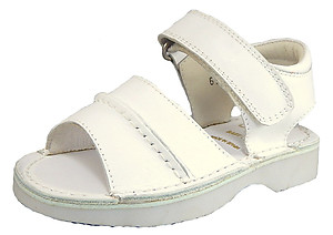 FARO B-6852 - White Seamed Sandals - EU 24 US 7