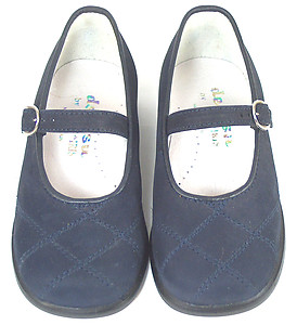 DE OSU B-6711 - Navy Nubuck Dress Shoes - EU 24 US 7