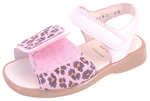 DE OSU/FARO B-7152 - Leopard-Cheetah Leather Sandals