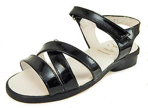 B-7171 - Black Patent Dress Sandals - Euro 29 Size 11