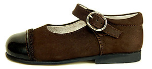 DE OSU B-7209 - Brown Dress Mary Janes - EU 22 Size 6