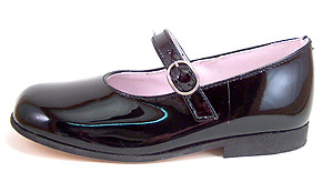 DE OSU B-7211 - Black Patent Mary Janes - EU 26 US 9