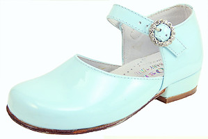 B-7413 - Light Blue Patent Dress Shoes - Euro 25 Size 7