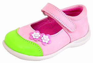 B-7423 - Pink Lime Mary Janes - EU 19 US 4