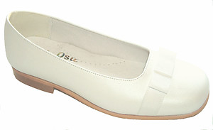 B-7608 - White Ribbon Slip-On